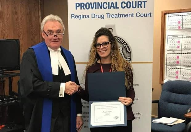 Meagan Jasper graduated from drug court in Regina after 13 months. (Submitted by Meagan Jasper - image credit)