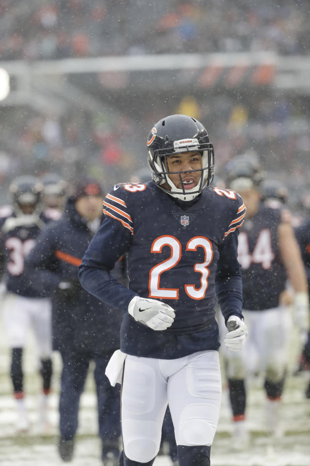 Chicago Bears cornerback Kyle Fuller (23) plays against the Cleveland Browns during an NFL football game in Chicago, Sunday, Dec. 24, 2017. (AP Photo/Nam Y. Huh)