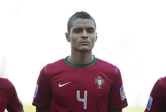 Portugal's Tiago Ilori before the Under-20 World Cup Group B soccer match between Portugal and Cuba in Kayseri, Turkey, Thursday, June 27, 2013. (AP Photo/Gero Breloer)
