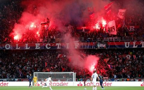 September 18, 2019 General view as Paris St Germain fans let of flares during the match - Credit: REUTERS