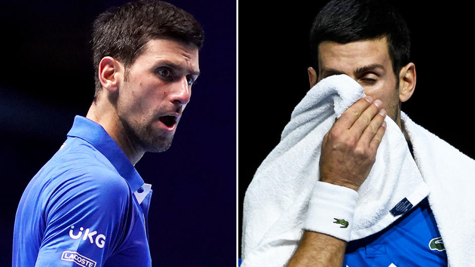 Novak Djokovic, pictured here in action at the ATP Finals.