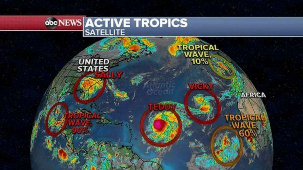 PHOTO: This next tropical system is expected to meander in the Gulf of Mexico for the next week or so, and then some of the long-term models are showing it coming north towards the Gulf Coast by the middle to end of next week. (ABC News)