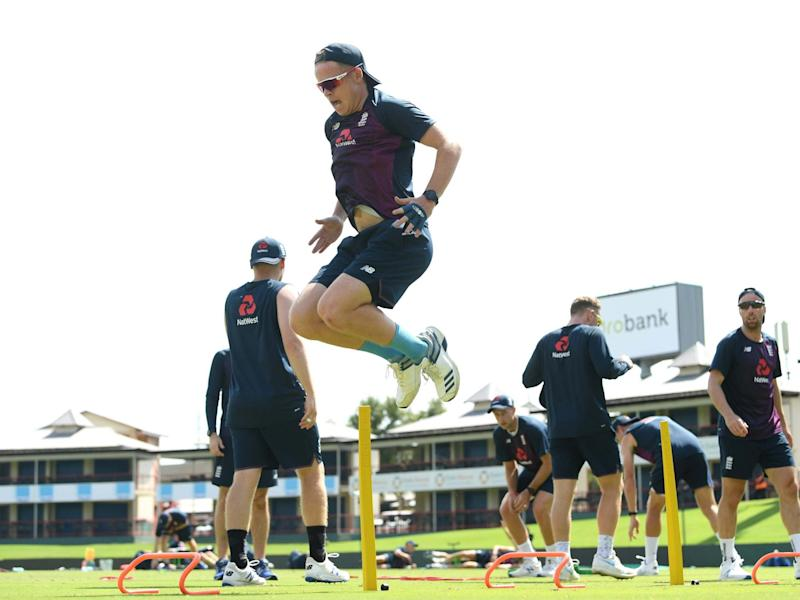 Ollie Pope in training during England's Test series against South Africa: Getty Images