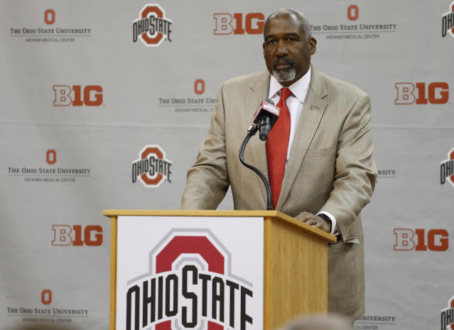 Ohio State AD Gene Smith has been on vacation this week according to a school spokesperson. (AP)