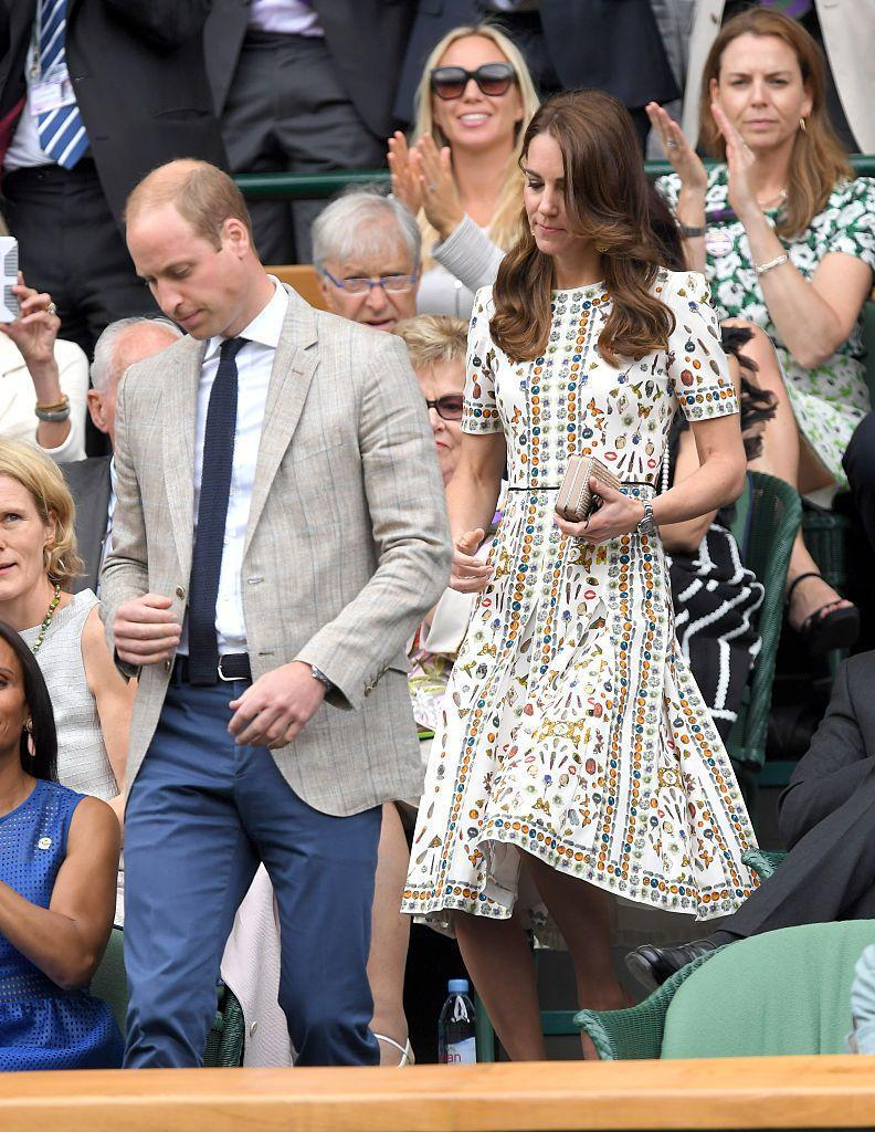 <p>The Duchess of Cambridge wore an embroidered midi dress. </p>