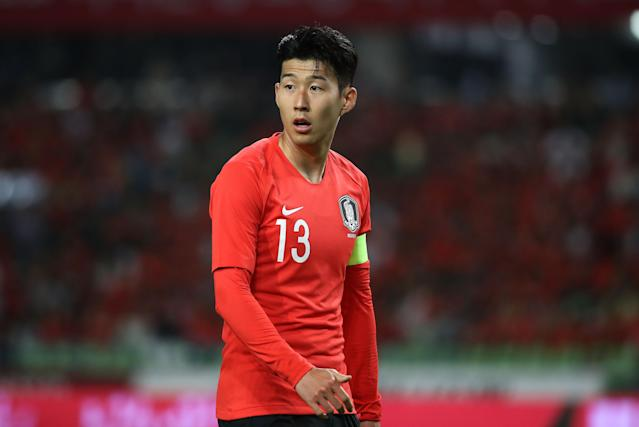 <p>Hueng-Min Son is part of the South Korea side valued at €123m. </p>