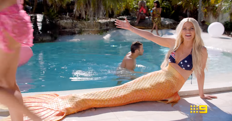 Sophie Monk as a mermaid in the Love Island trailer.