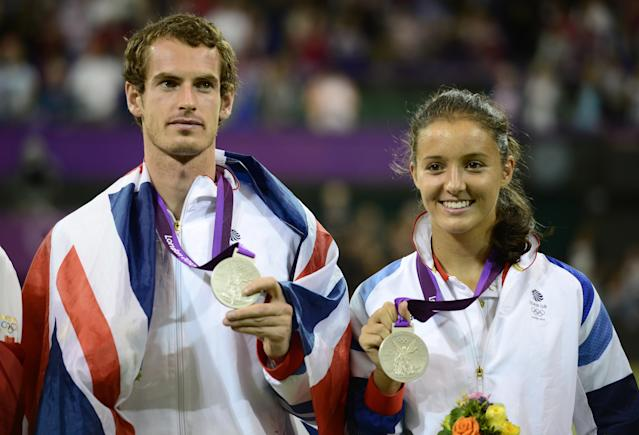 <p>Murray also won silver at the London Games in the mixed doubles with Laura Robson. (Getty Images) </p>