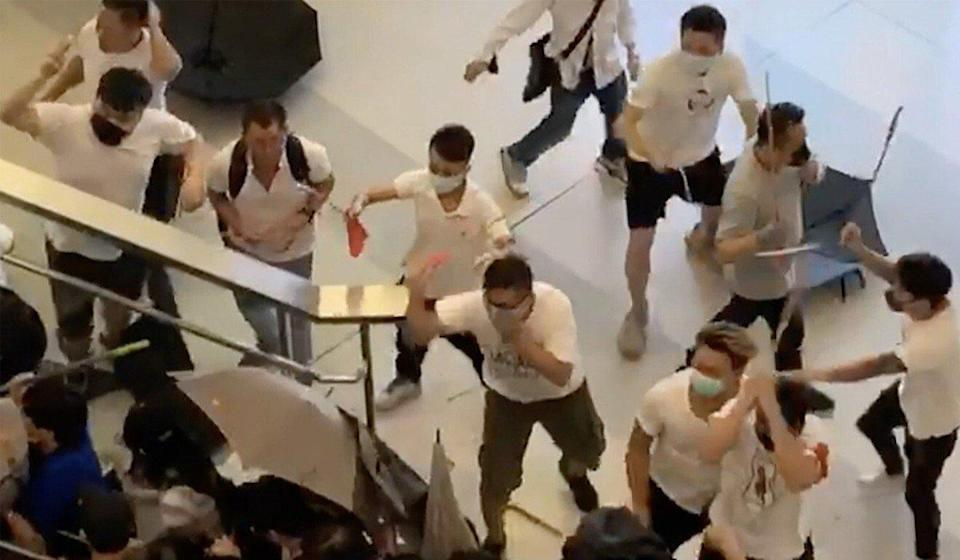 The attack at Yuen Long MTR Station was seen as a turning point in the 2019 protest movement. Photo: Handout