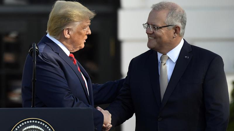 Both PM Scott Morrison (R) and President Donald Trump have reaffirmed the strong US-Australia ties
