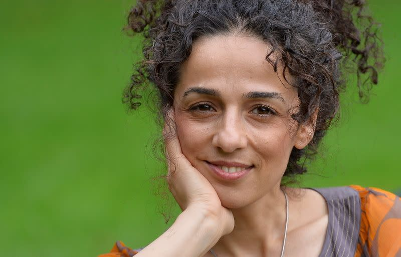 FILE PHOTO: Britain-based Iranian journalist Alinejad poses for a portrait in London