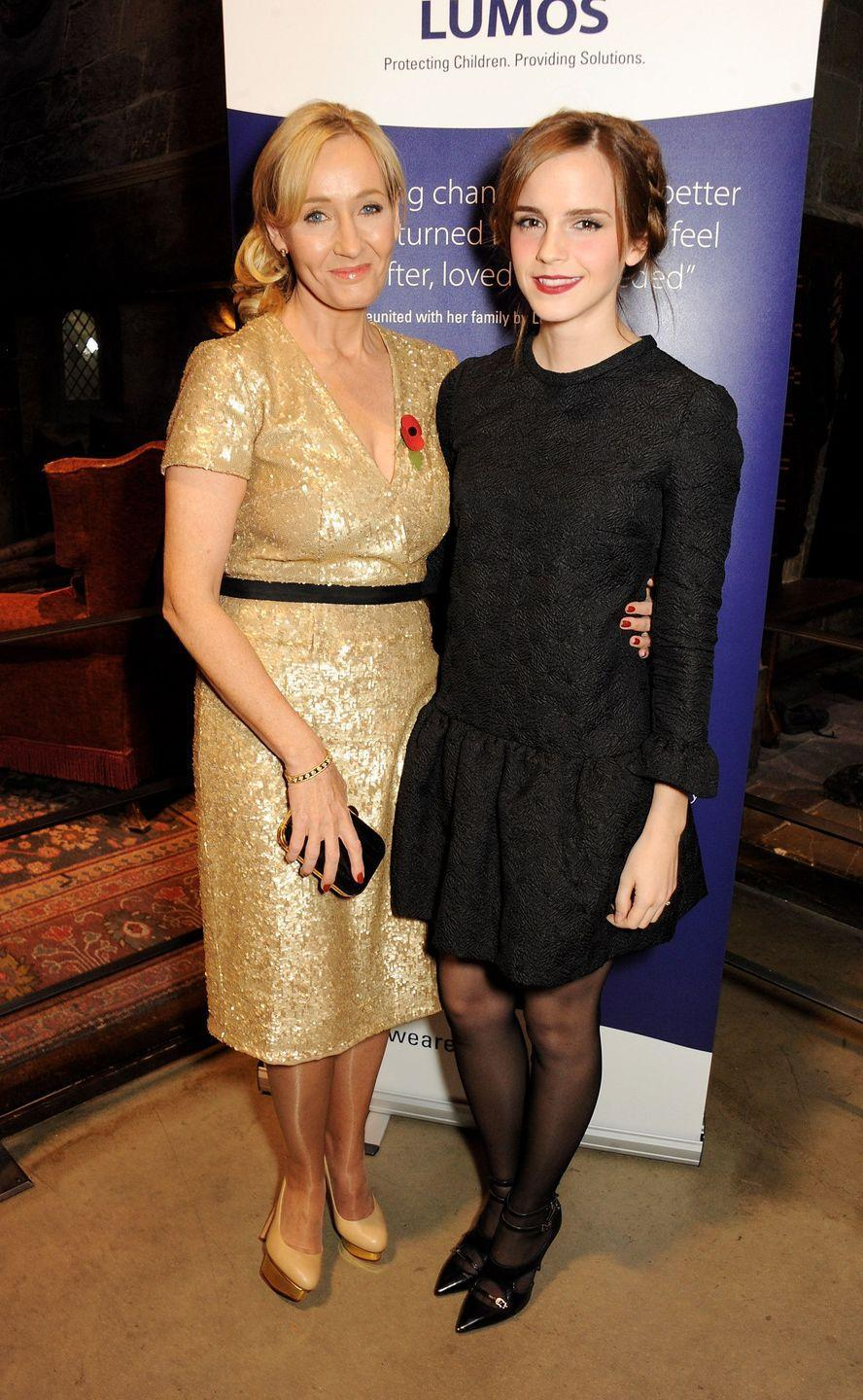 <p>The author and her literary prodigy reunited in 2013 at an event for Rowling's charity Lumos.</p>