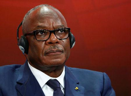 FILE PHOTO: Mali's President Ibrahim Boubacar Keita listens during the Escaping From Poverty event in the Swiss mountain resort of Davos January 22, 2015. REUTERS/Ruben Sprich/File Photo
