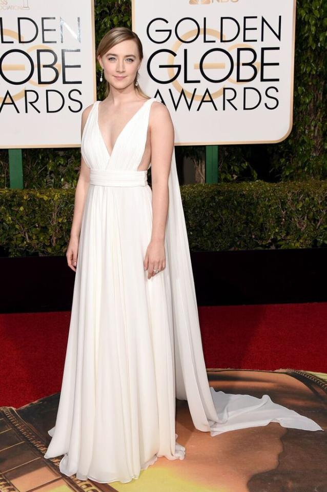 Best: Saoirse Ronan in Yves Saint Laurent Couture by Hedi Slimane at the 73rd Annual Golden Globe Awards.