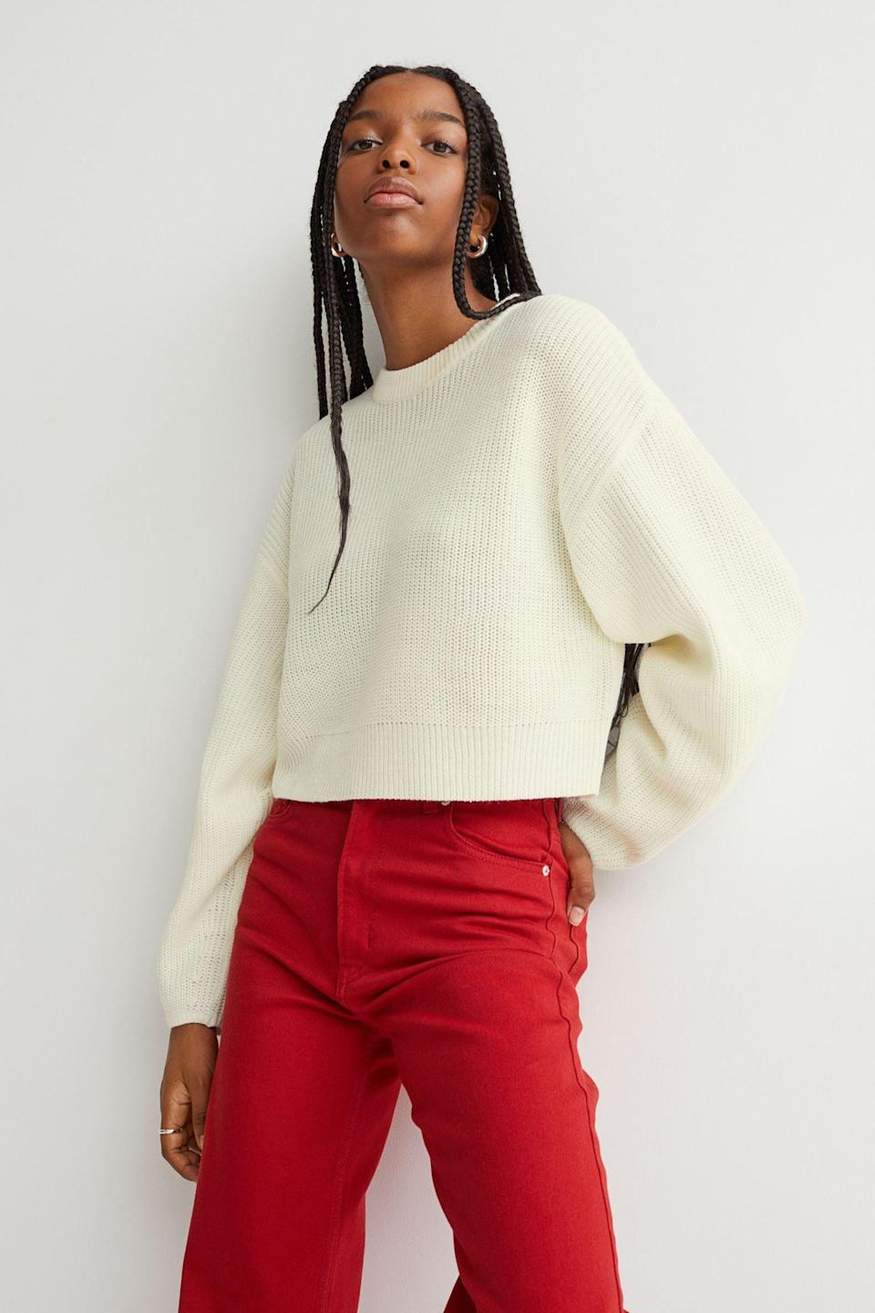 <p>This <span>Rib-Knit Sweater</span> ($18) styled with your favorite denim jeans? The most effortlessly cool and comfortable everyday look.</p>