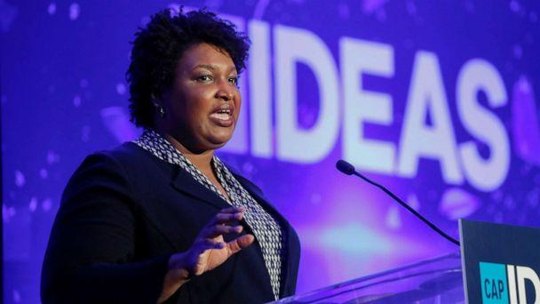 PHOTO: Georgia Democrat Stacey Abrams, a rising party star who narrowly fell short of becoming the first female African American governor last year, speaks at the Center for American Progress (CAP) 2019 Ideas Conference in Washington, May 22, 2019. (Kevin Lamarque/Reuters, FILE)