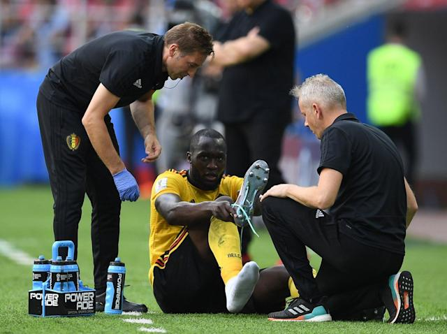 World Cup 2018: Romelu Lukaku suffers ankle ligament injury in Tunisia win and could miss England clash
