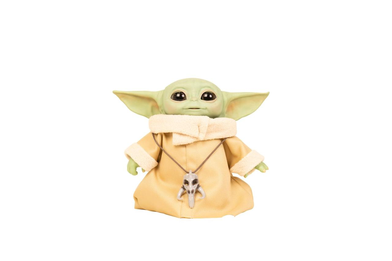 """<p>Baby Yoda features series-inspired sounds and motorised movements, including a head that moves up and down, ears that move back and forth, eyes that open and close, and more. </p><p>• This will be available to buy on Argos from October 2020.</p><p><a class=""""body-btn-link"""" href=""""https://www.amazon.co.uk/Star-Wars-Animatronic-Combinations-Mandalorian/dp/B084PTVQLZ?tag=hearstuk-yahoo-21&ascsubtag=%5Bartid%7C2060.g.33533336%5Bsrc%7Cyahoo-uk"""" target=""""_blank"""">PRE-ORDER VIA AMAZON</a> </p>"""