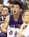 """Jeremy Lin <a href=""""http://yhoo.it/N77OcF"""" rel=""""nofollow noopener"""" target=""""_blank"""" data-ylk=""""slk:withdrew from the Olympic select team"""" class=""""link rapid-noclick-resp"""">withdrew from the Olympic select team</a> with his NBA free-agent future still uncertain. (Photo by Fred Thornhill/Reuters)"""