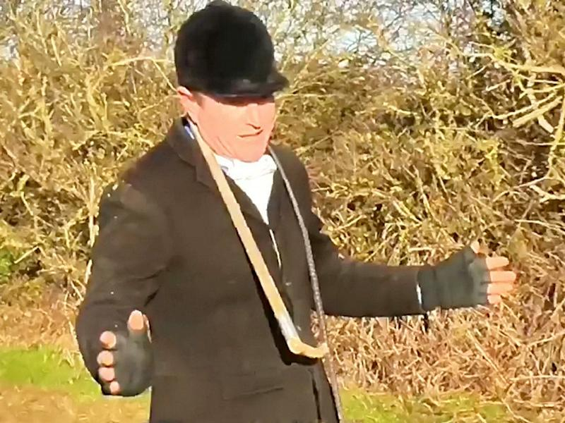 A huntsman insists the fox kill was an accident when confronted: Nottingham Hunt Saboteurs / SWNS