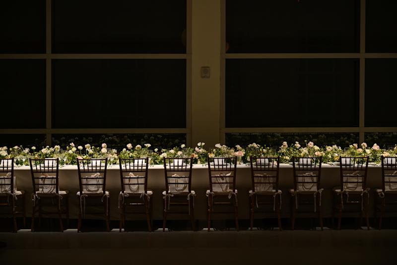 The night's tablescape and ambiance