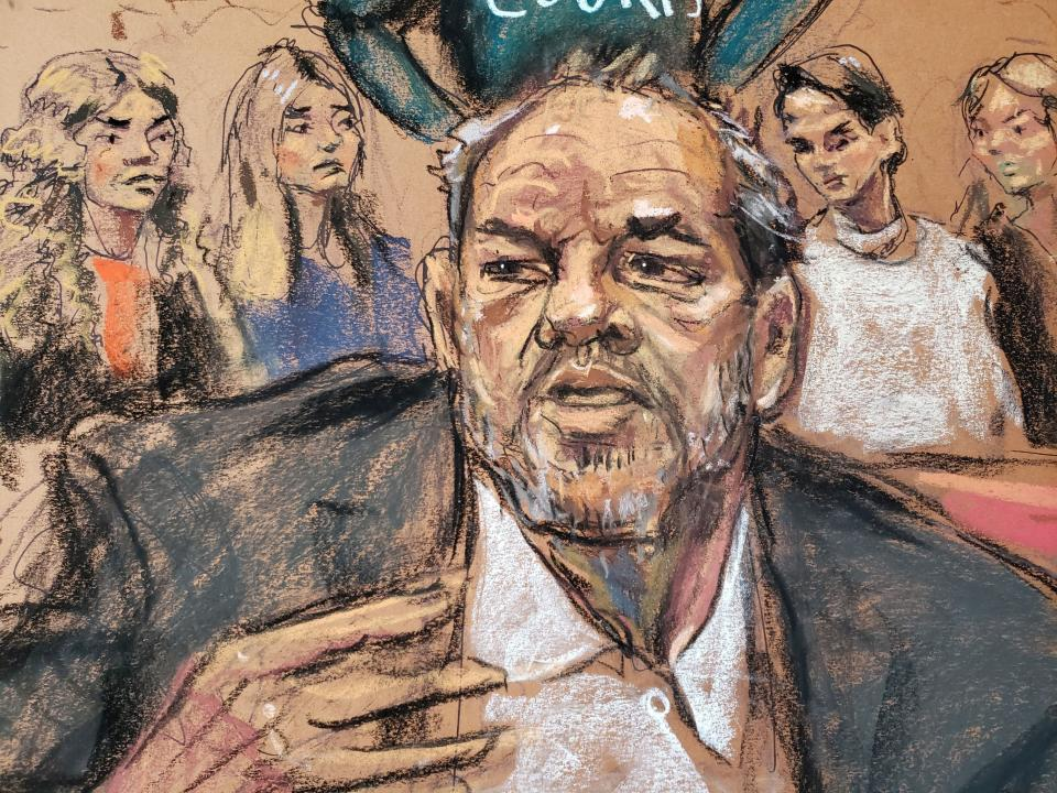 """Weinstein """"didn't come off as a beaten man"""" as he spoke to the judge, according to Rosenberg. (Photo: REUTERS/Jane Rosenberg)"""