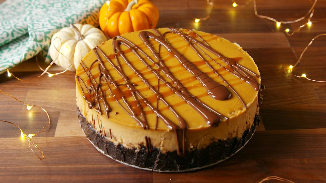 """<p>When it comes to cake vs. pie, we don't discriminate. We believe <em>both </em>have a place at the table, so here are some poke cakes, cheesecakes, and pumpkin-shaped cakes to add to the table. Check out our Thanksgiving <a rel=""""nofollow"""" href=""""https://www.delish.com/cooking/g779/pumpkin-pie-recipes/"""">pumpkin pies</a> while you're at it.</p>"""