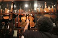 Amnon Weinstein's collection includes 60 violins and cellos, each with its own story about European Jews during the Holocaust