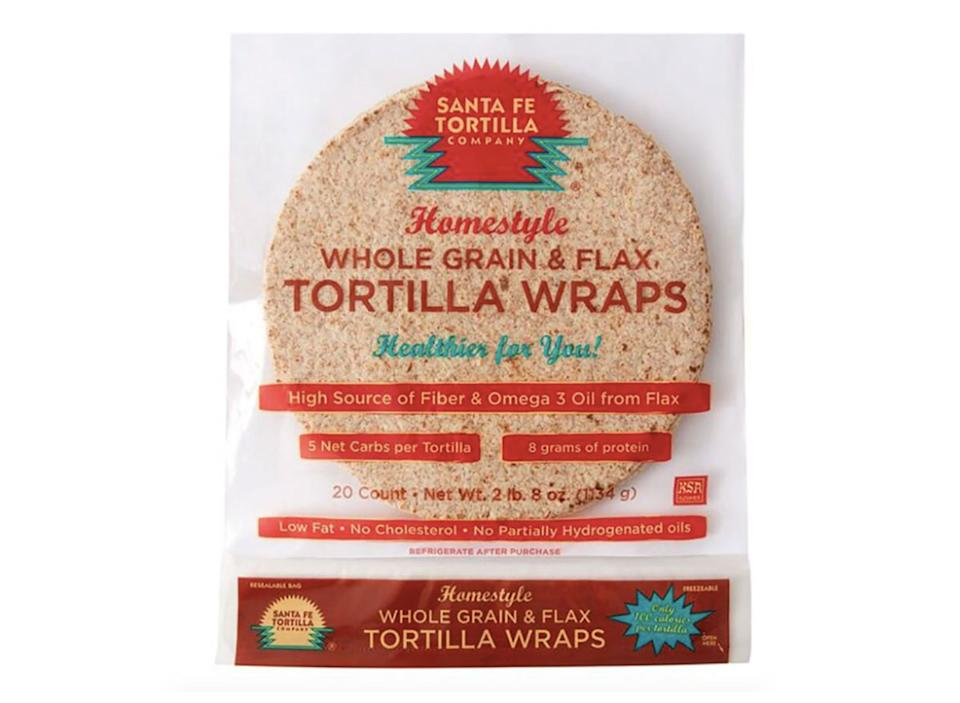 package of santa fe tortilla wraps