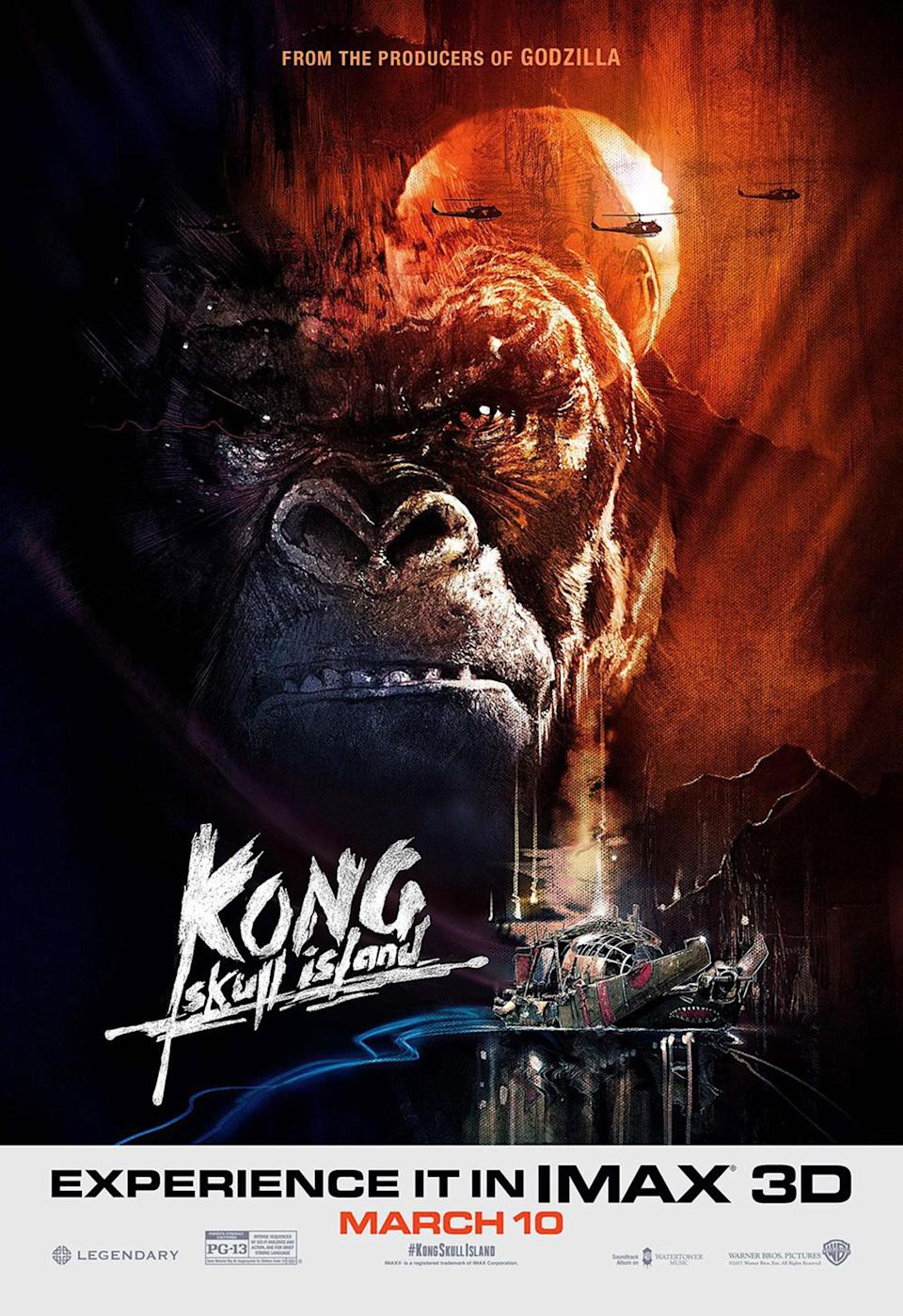 <p>Everyone loves a '70s throwback, and this IMAX special for 'Kong: Skull Island' casts us right back to the movie's 'Apocalypse Now' era, but with the beast himself taking the Marlon Brando role. After this and the stylish 'Godzilla' posters from 2014, we can only hope the creative is quite as on point when Kong meets the King of the Monsters in 2020. </p>
