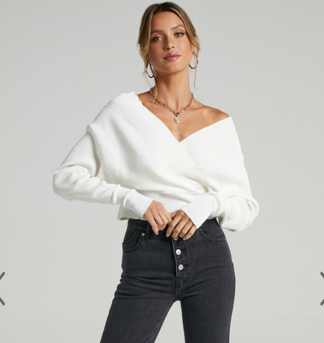 BESOTTED ribbed knit in creme for $69.95 from Showpo