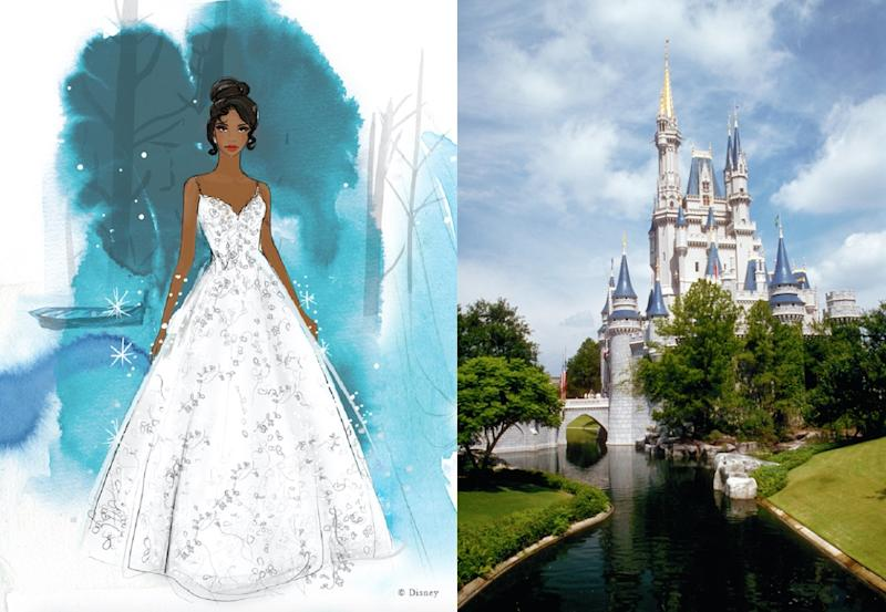 Disney have launched a range of dreamy wedding dresses (Disney/Getty)