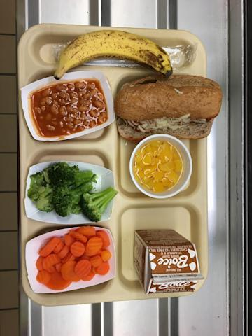 School lunch at a New York City elementary school.