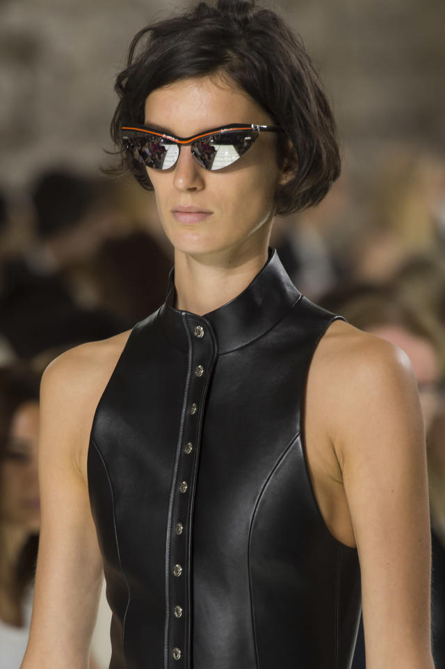 <p><i>'Matrix' style sunglasses from the SS18 Louis Vuitton collection. (Photo: ImaxTree) </i></p>
