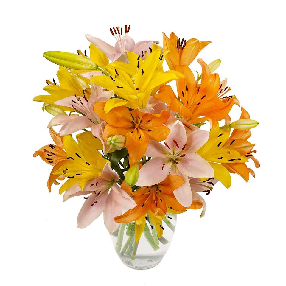 """<p><strong>USA Bouquet</strong></p><p>walmart.com</p><p><a href=""""https://go.redirectingat.com?id=74968X1596630&url=https%3A%2F%2Fwww.walmart.com%2Fip%2F379057797&sref=https%3A%2F%2Fwww.thepioneerwoman.com%2Fhome-lifestyle%2Fg36079719%2Fbest-flower-delivery-services%2F"""" rel=""""nofollow noopener"""" target=""""_blank"""" data-ylk=""""slk:Shop Now"""" class=""""link rapid-noclick-resp"""">Shop Now</a></p><p>This national flower delivery service is fulfilled by Walmart, so you can use your Walmart+ account for free shipping if you have it! Choose from lilies, roses, tulips, or assorted bouquets that you can also customize with a card and personal message.</p><p><strong>Shop this bouquet: </strong>Rainbow Lilies, $27.98 at <a href=""""https://go.redirectingat.com?id=74968X1596630&url=https%3A%2F%2Fwww.walmart.com%2Fip%2Fseort%2F379057797&sref=https%3A%2F%2Fwww.thepioneerwoman.com%2Fhome-lifestyle%2Fg36079719%2Fbest-flower-delivery-services%2F"""" rel=""""nofollow noopener"""" target=""""_blank"""" data-ylk=""""slk:Walmart"""" class=""""link rapid-noclick-resp"""">Walmart</a></p>"""