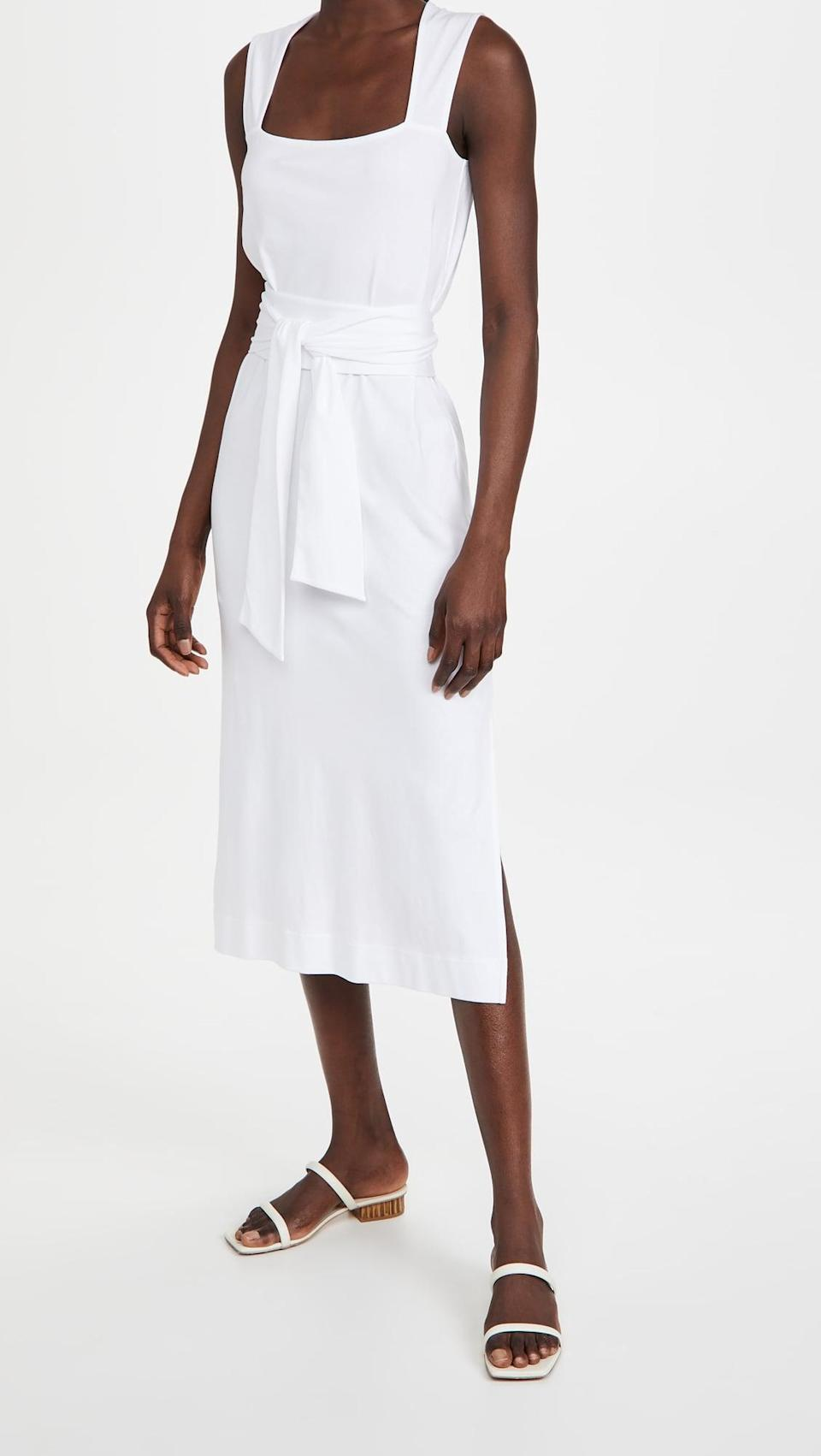 <p>Welcome warm weather in this adorable <span>Vince Sleeveless Wrap Dres</span> ($225).</p>