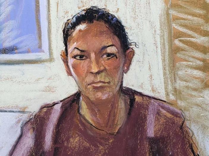 Court sketch of Ghislaine Maxwell following her 2020 arrestReuters