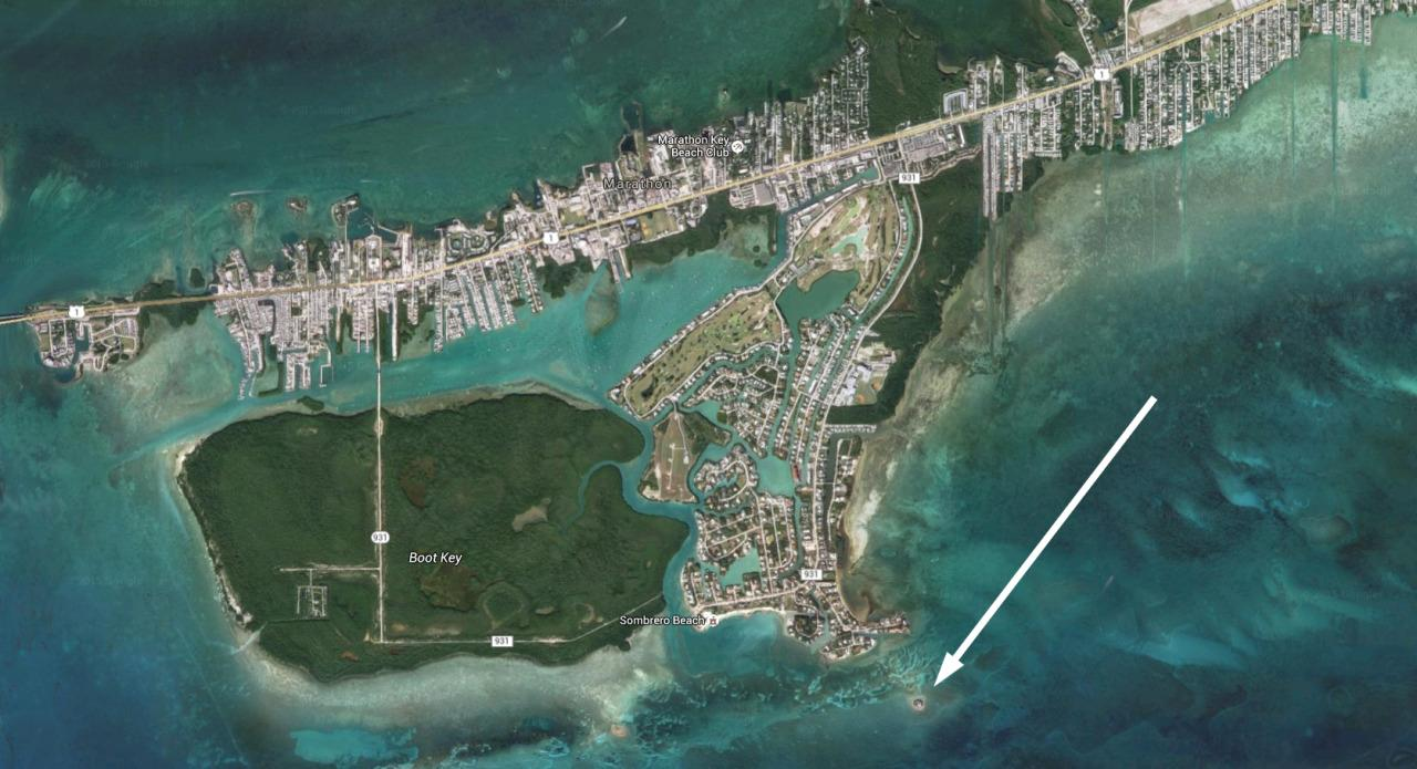 <p>The island is about a quarter-mile off Marathon. (Image: Google Maps)<br /></p>