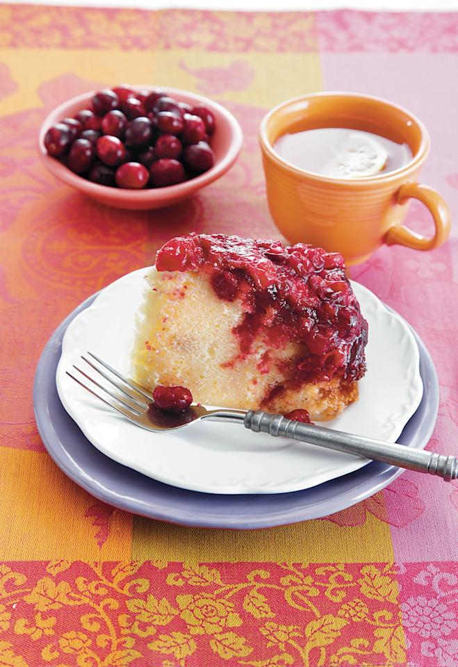 "<p><strong>Recipe: <a href=""http://www.southernliving.com/recipes/cranberry-upside-down-cake-recipe"">Cranberry Upside-Down Cake</a></strong></p> <p>This delightful sweet only requires 10 minutes of hands-on time, so you can serve a praiseworthy dessert without spending hours in the kitchen.</p>"