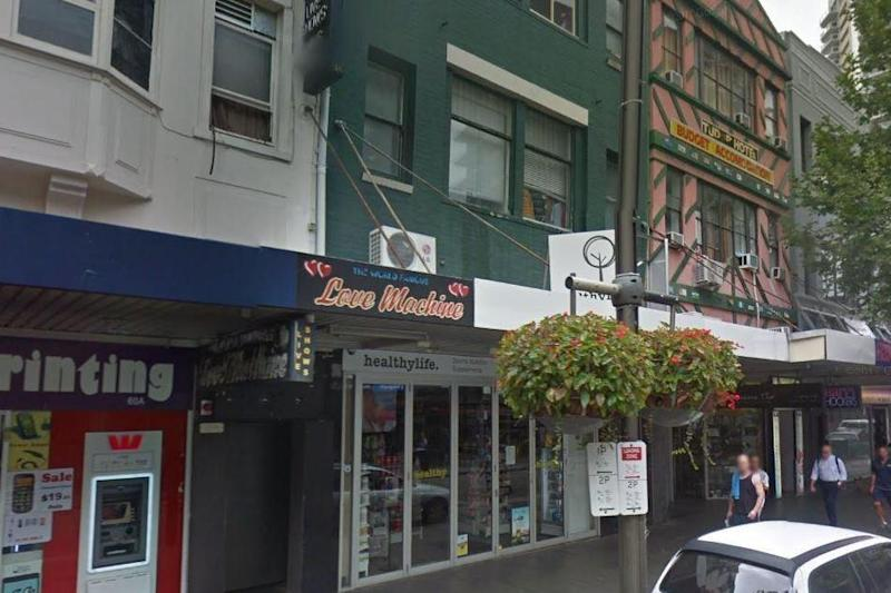 Love Machine is one of the best known venues in Sydney's red light district: Google Street View