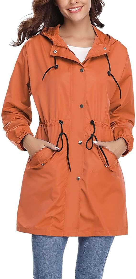 Abollria Womens Outdoor Waterproof Lightweight Windbreaker. Image via Amazon.