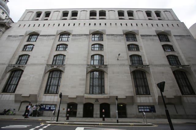 A general view of the Central Criminal Court in the Old Bailey, London (Daniel Leal-Olivas/PA)