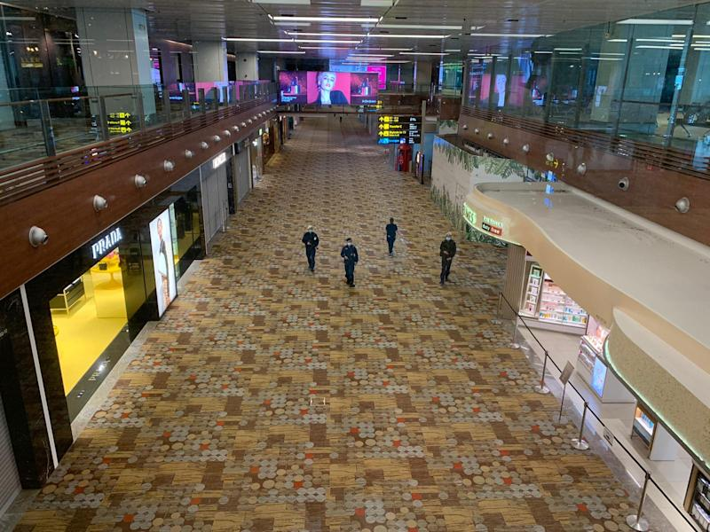The transit area at Changi Airport Terminal 3 in July 2020. PHOTO: Nicholas Yong/Yahoo News Singapore