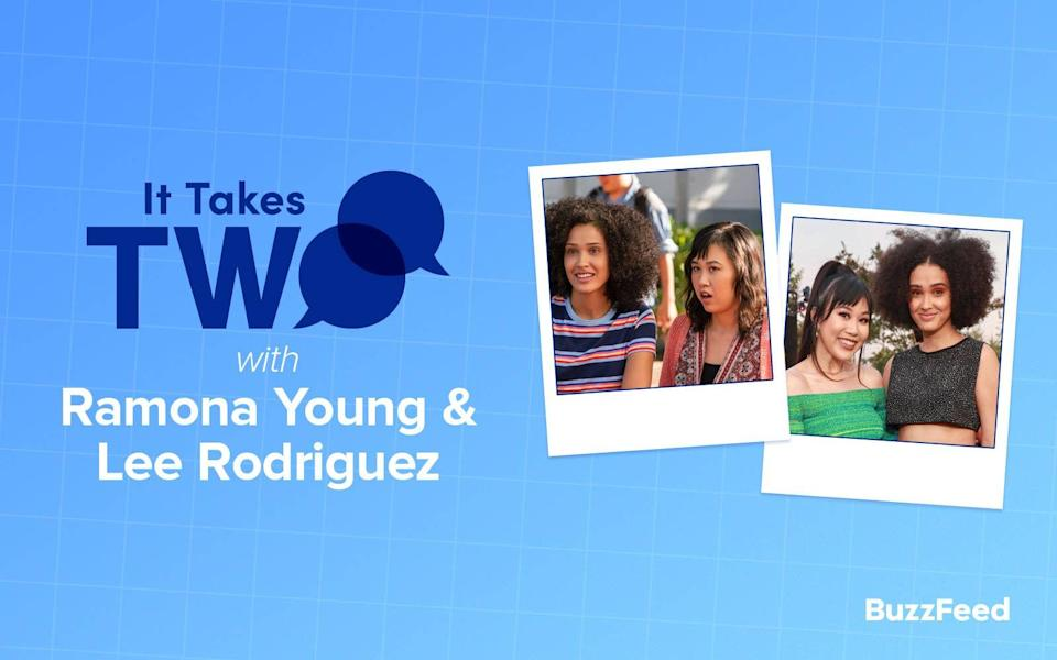 """Header that says """"It Takes Two with Ramona Young & Lee Rodriguez"""""""
