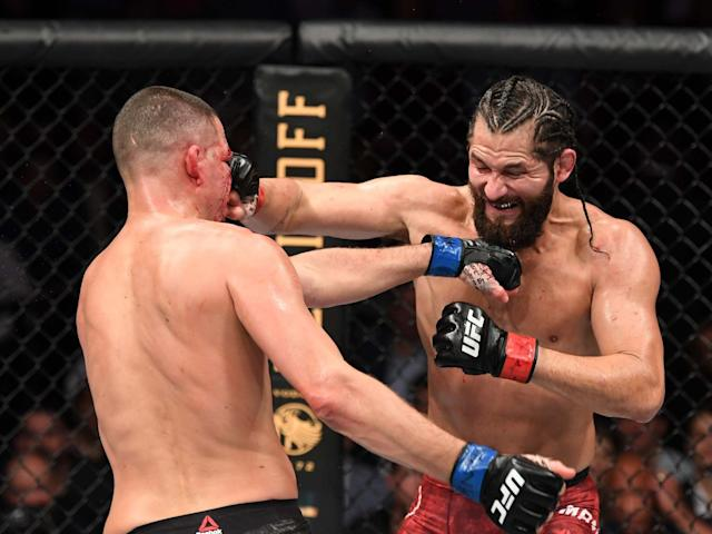 Masvidal outgunned Diaz before the doctor ordered a stoppage: Getty