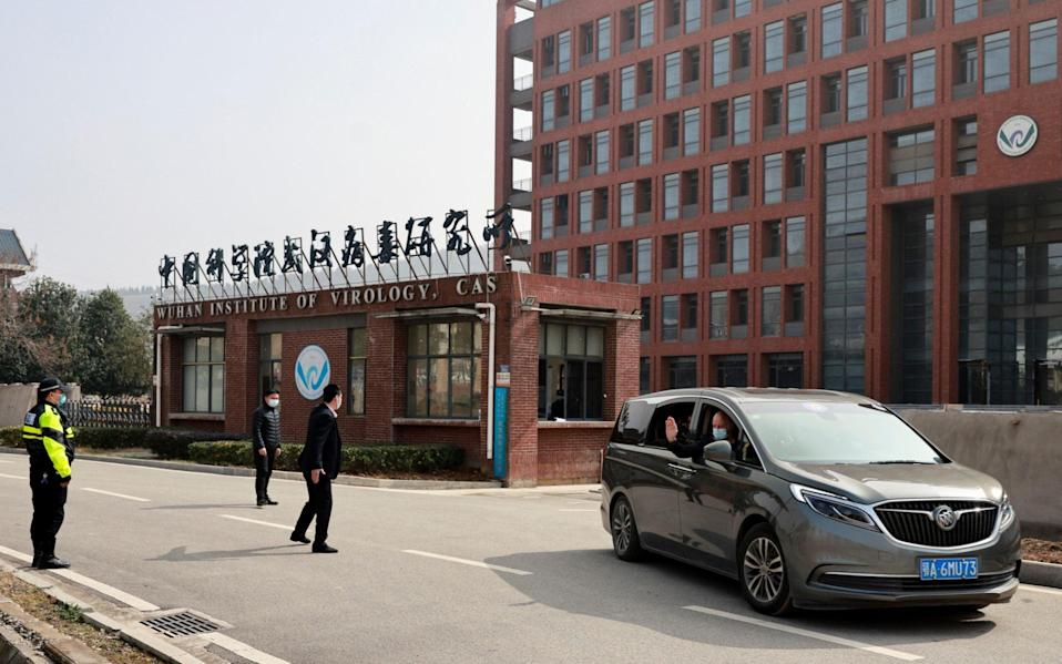 The WHO investigative team visit the Wuhan Institute of Virology - Thomas Peter/Reuters