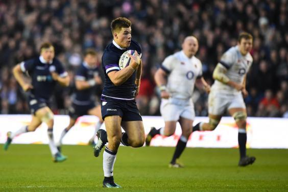 Finn Russell's perfect pass to Huw Jones (pictured) lives long in the Murrayfield memory (Getty)