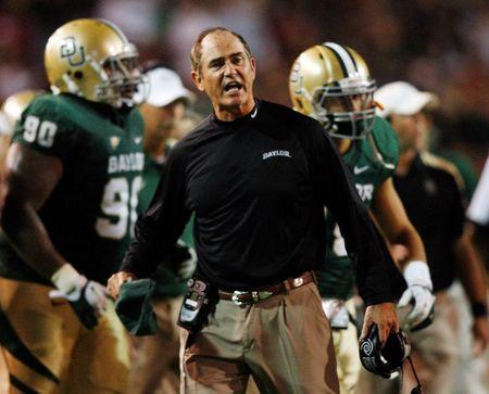 FILE PHOTO: Baylor head coach Briles reacts against Oklahoma in their NCAA Big 12 football game in Waco Texas