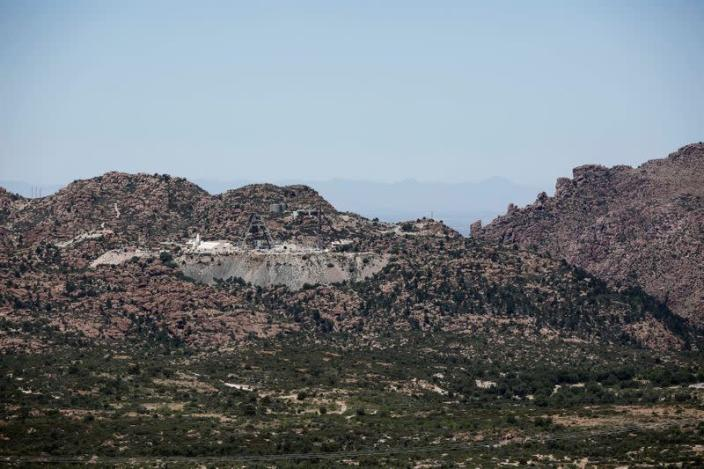 FILE PHOTO: View of Resolution Copper Mining's east plant near Superior, Arizona