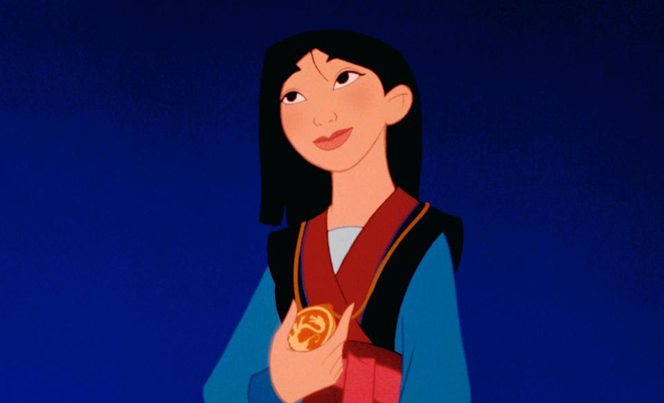 "<p>When her aging father is conscripted to go to war, Mulan pretends to be a man in order to take his place. In short, she's one of the most badass Disney characters of all time, and she finally got her own live-action adaptation in 2020.</p> <p><em>Available to buy on</em> <a href=""https://www.amazon.com/Mulan-Plus-Bonus-Content-Ming-Na/dp/B079BSYVYT/"" rel=""nofollow noopener"" target=""_blank"" data-ylk=""slk:Amazon Prime Video"" class=""link rapid-noclick-resp""><em>Amazon Prime Video</em></a><em>.</em></p>"